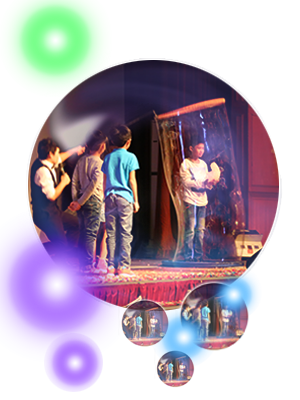Interactive Balloon Show on Stage
